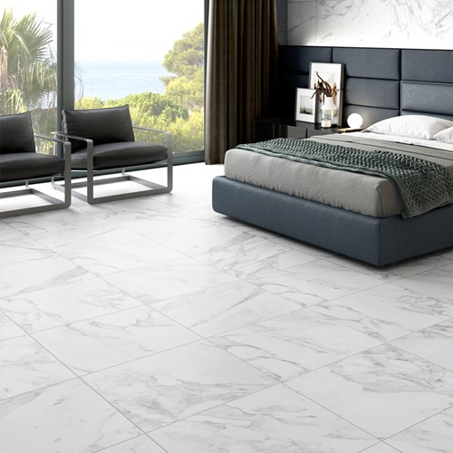 Carrara White Matt Rectified
