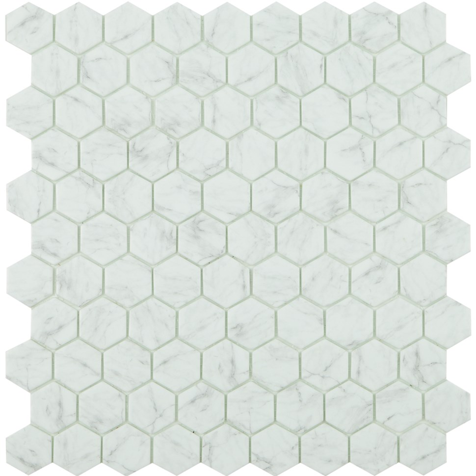Carrara Grey Matt Antislip Hex